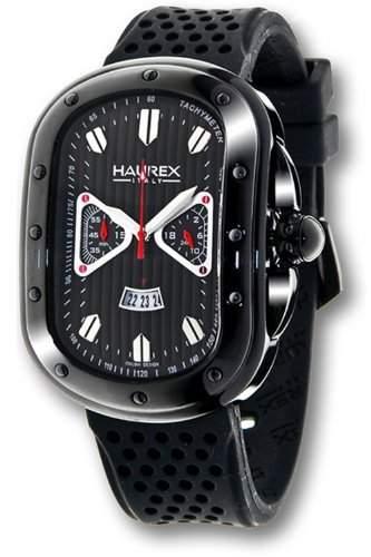Haurex Italy Herrenuhr Ricurvo Black Dial Watch #3N338UNG
