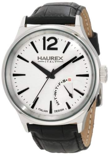 Haurex Italy Herrenuhr Elegant Grand Class Silver Dial Watch #6A341US1