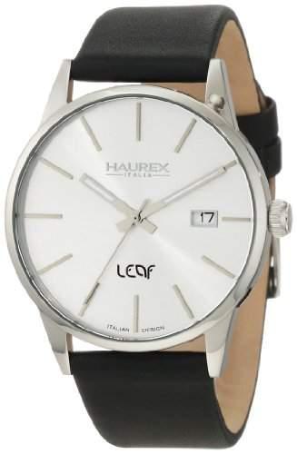 Haurex Italy Herren-Armbanduhr XL Leaf Analog Leder 6A363US1