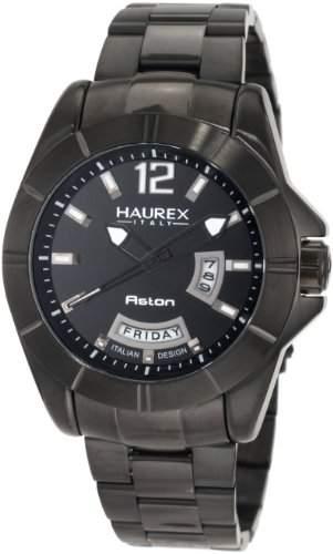 Haurex Italy Herren-Armbanduhr XL Aston Analog Edelstahl 7N366UNN