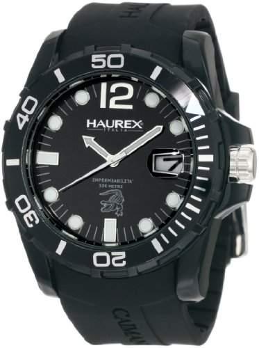 Haurex Italy Herren-Armbanduhr XL Caimano Analog Kautschuk N1354UNN