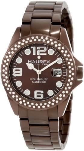 Haurex Italy Damen-Armbanduhr Ink Stones Analog Edelstahl XK374DMM