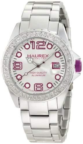 Haurex Italy Damen-Armbanduhr Ink Stones Analog Edelstahl XK374DWP