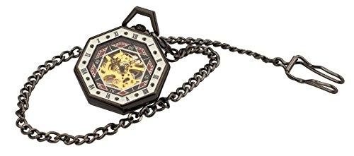 Taschenuhr TU29 8 eckig mit langer Kette in Antikoptik Modeschmuck von Kobert Goods
