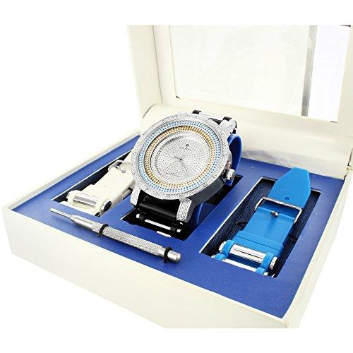 Ice King Armbanduhr Geschenk Set mit Spring Bar Werkzeug und zwei Silikon Traeger