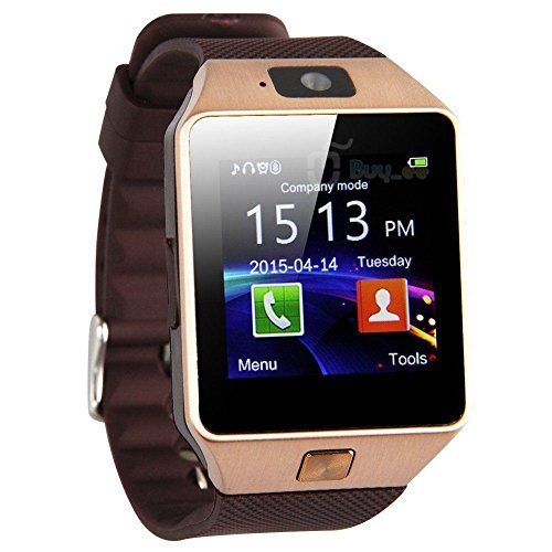 dz09 Smart Watch Bluetooth Kamera fuer Android iOS Handys Rose Gold