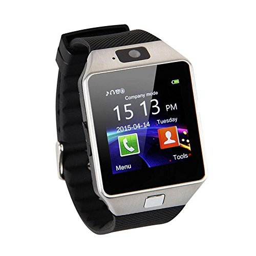 dz09 Smart Watch Kamera Bluetooth fuer Android iOS Handy Universal weiss NEU