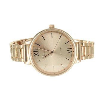 Damen Rose Gold Watch Geneva Runde Zifferblatt 39 mm roemischen Stunden Wasser widerstehen Geneva