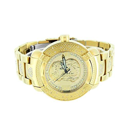 Jesus Gesicht Zifferblatt Armbanduhr Gold Finish Echter Diamant Aqua Master Joe Rodeo Jojino