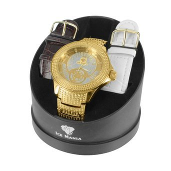 Herren Gold Ton Ice Mania Simuliert Lab diamantenluenette Luxus KC Joe Rodeo