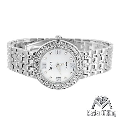 Master of Bling MK Stil Gold Finish Simuliert Lab Diamanten Iced Out Elegant Weiss