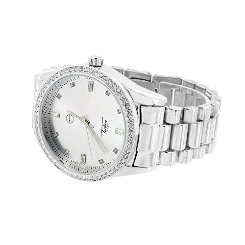 Presidential Weiss simulierten Diamanten Classy Party tragen 46 mm