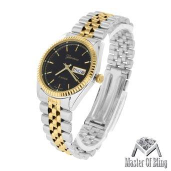 Presidential Style Weiss Gelb Gold 2 Ton Damen Slim Design Luxus