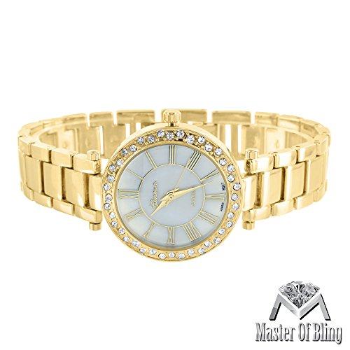 Weiblich Gold Ton Slim Design Lab Diamant 1 Zeile Luenette wasserabweisend Verkauf