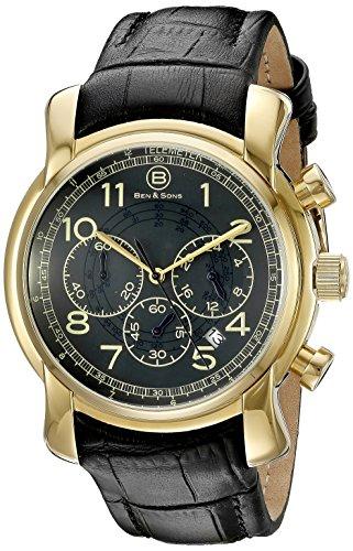 Ben Sons Herren Armbanduhr BS 10013 YG 014 BLGA