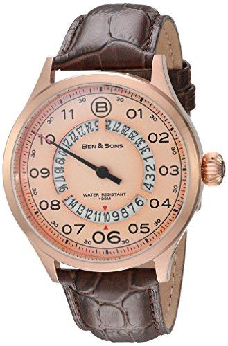 Ben Sons Herren Armbanduhr BS 10017 RG 016 BRW