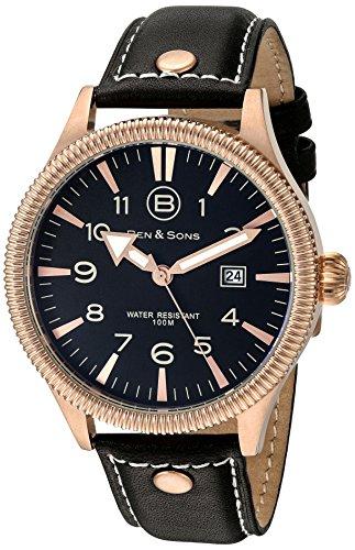Ben Sons Herren Armbanduhr BS 10019 RG 01