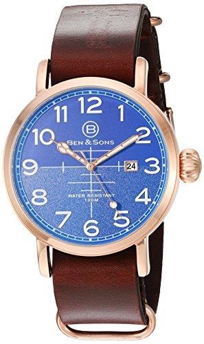 Ben Sons Herren Armbanduhr BS 10022 RG 03 BRW