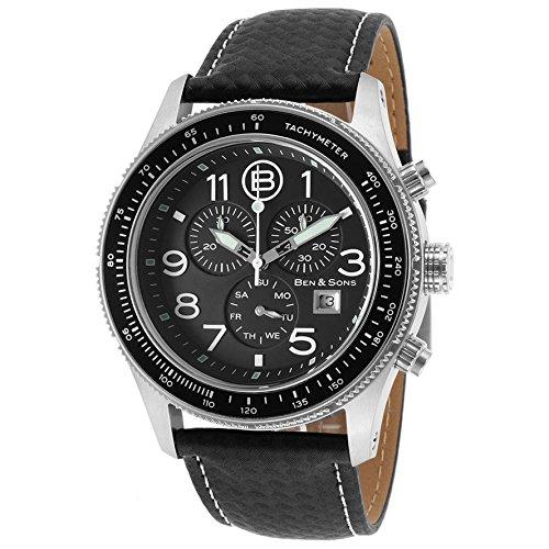Ben Sons The Colonel Herren 44mm Chronograph Edelstahl Gehaeuse Uhr 10062 01