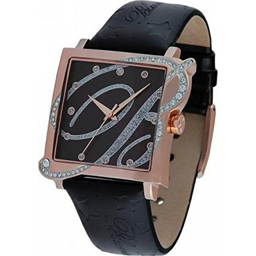 Uhr Blumarine Damen BM 3117l 08S Quarz Batterie Stahl Quandrante schwarz Armband Leder