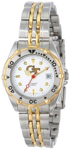 Georgia Tech Yellowjackets Damen All Star Watch Edelstahl Armband