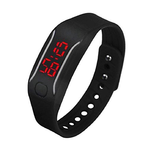 uhr sport armband Kolylong Unisex Gummi LED Datum Digital Sport Armband Kolylong Schwarz