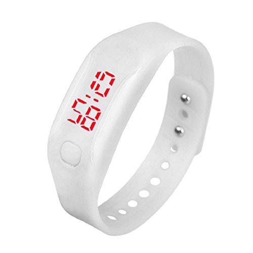 uhr sport armband Kolylong Unisex Gummi LED Datum Digital Sport Armband Kolylong Weiss