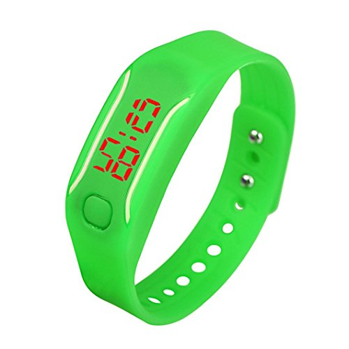 uhr sport armband Kolylong Unisex Gummi LED Datum Digital Sport Armband Kolylong Green