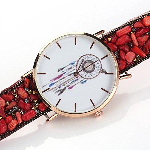 Uhr Damen Kolylong Frau Besondere Traumfaenger Muster Kasten Verpackung Armband Cobblestone Entwurf Synthetik Kette Uhr C
