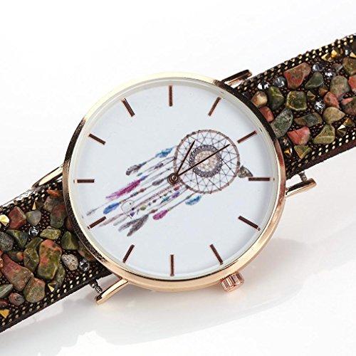 Uhr Damen Kolylong Frau Besondere Traumfaenger Muster Kasten Verpackung Armband Cobblestone Entwurf Synthetik Kette Uhr B