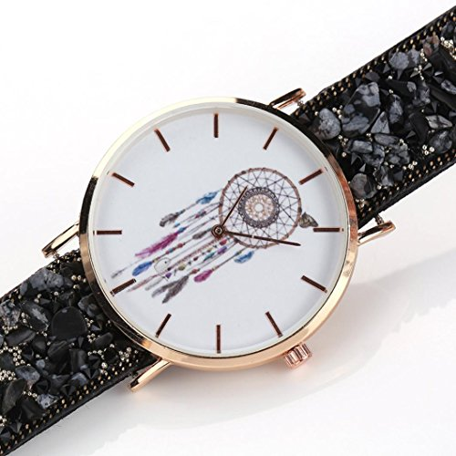 Uhr Damen Kolylong Frau Besondere Traumfaenger Muster Kasten Verpackung Armband Cobblestone Entwurf Synthetik Kette Uhr F