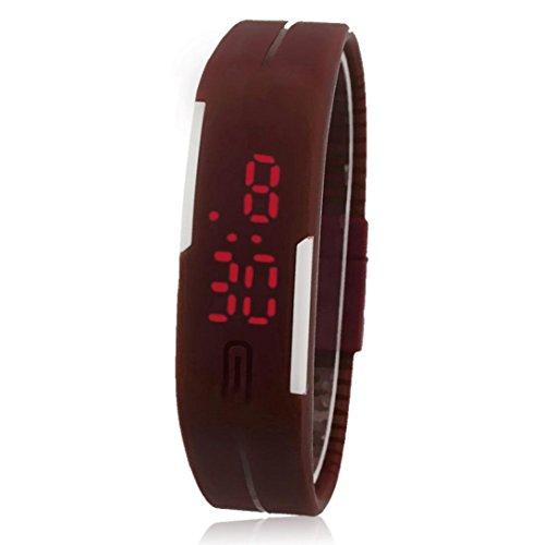 Uhr Sport Herren Kolylong Mann Sport Silikon Digital LED Armbanduhr F