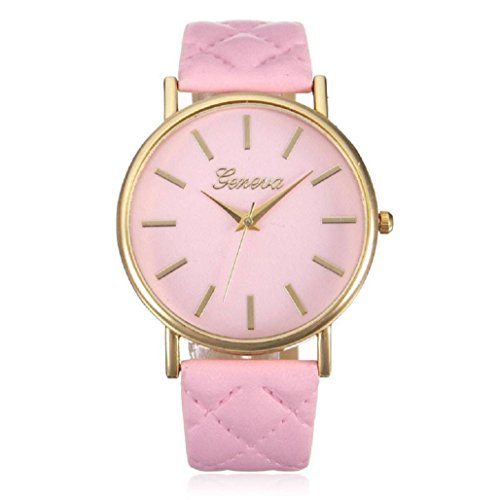 Kolylong Damen Armbanduhr Joyful Analog Quarz Rosa
