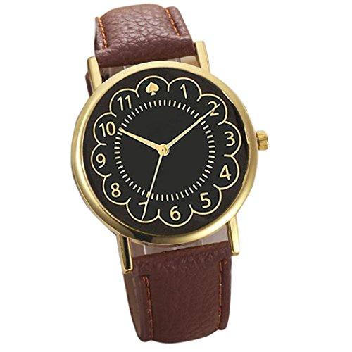 uhr Kolylong Frauen Quarz Uhren braun