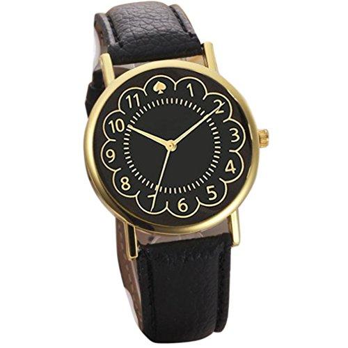 uhr Kolylong Frauen Quarz Uhren schwarz