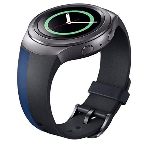 Sportuhr Band Silikon Buegel Kolylong fuer Samsung Galaxy Gear S2 SM R720 Uhrenarmband b
