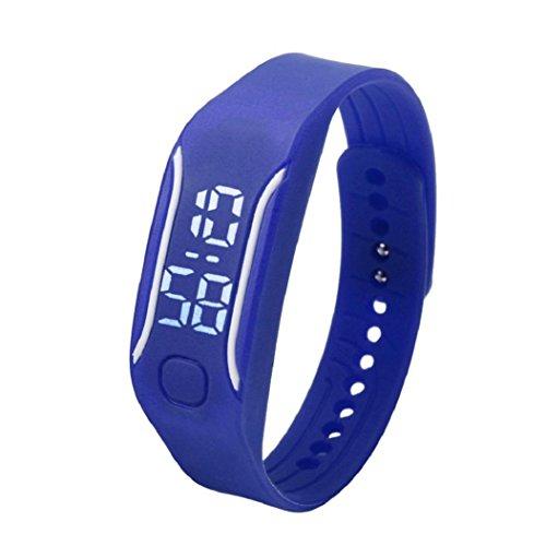 uhr sport Kolylong 1PC 2016 Unisex Gummi LED Sport Armbanduhr Blau