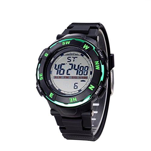 joefox Sport LED Digital und schwarz Harz Gurt Wasserdicht Multi Funktionen