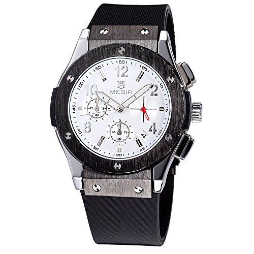 megir Silikon Armband Sport Big Zifferblatt Datum Relojes