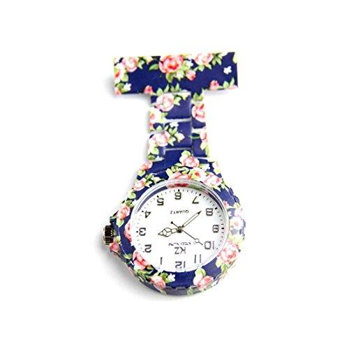 Damen Krankenschwester Armbanduhr PVC Blumen KZ 169