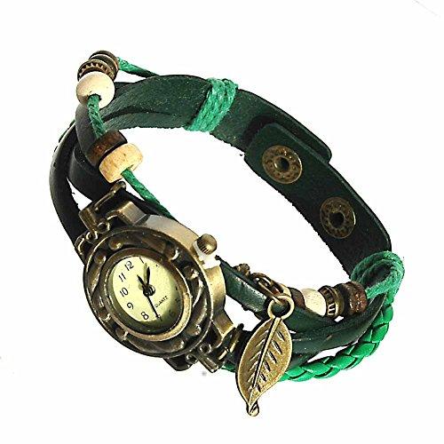 Armbanduhren Leder Modeschmuck Uhr Damen Thalie Gruen Geschenk Damen