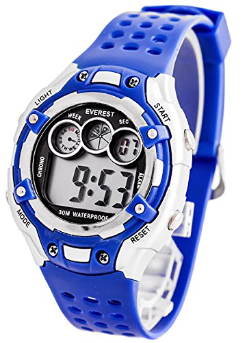 Digitale EVEREST Armbanduhr fuer Kinder mit Stoppuhr Alarm Licht nickelfrei ZK764C 4
