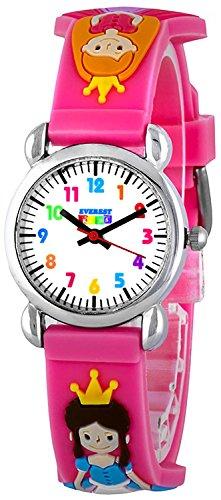 Zauberhafte Princess EVEREST Kids 12 Stunden Ziffernblatt Armbanduhr nickelfrei fuer Maedchen EKWQT 11