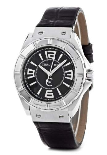 Cerruti 1881 Herren-Armbanduhr Analog Leder Schwarz CRA020A222B