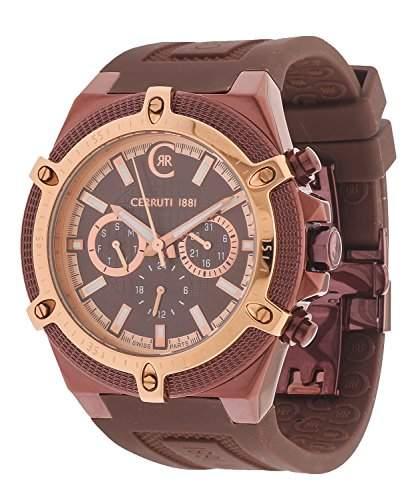 Cerruti Herren Armbanduhr Braun CRA036J235H