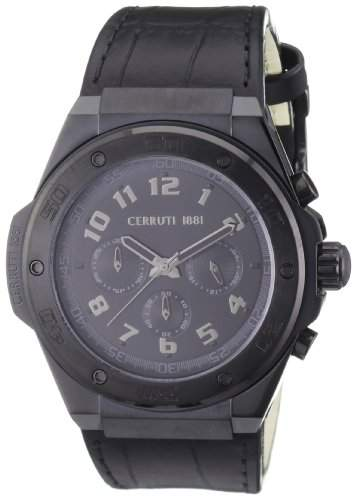Cerruti 1881 Herren-Armbanduhr XL Analog Quarz Leder CRA040F222H