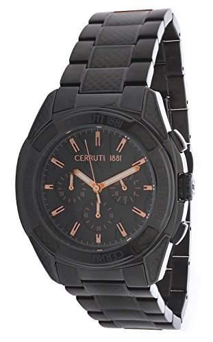 Cerruti Herren Armbanduhr Schwarz CRA049F221H