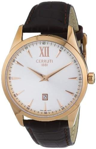 Cerruti 1881 Herren-Armbanduhr XL Analog Quarz Leder CRA066C213A