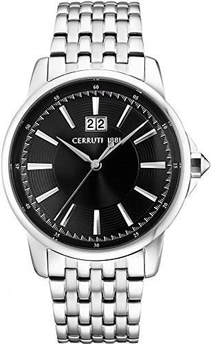 Cerruti Herren Armbanduhr Silber CRA072SN02MS