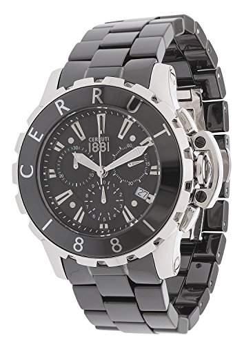 Cerruti Herren-Armbanduhr Analog Quarz Keramik CRA078E229H